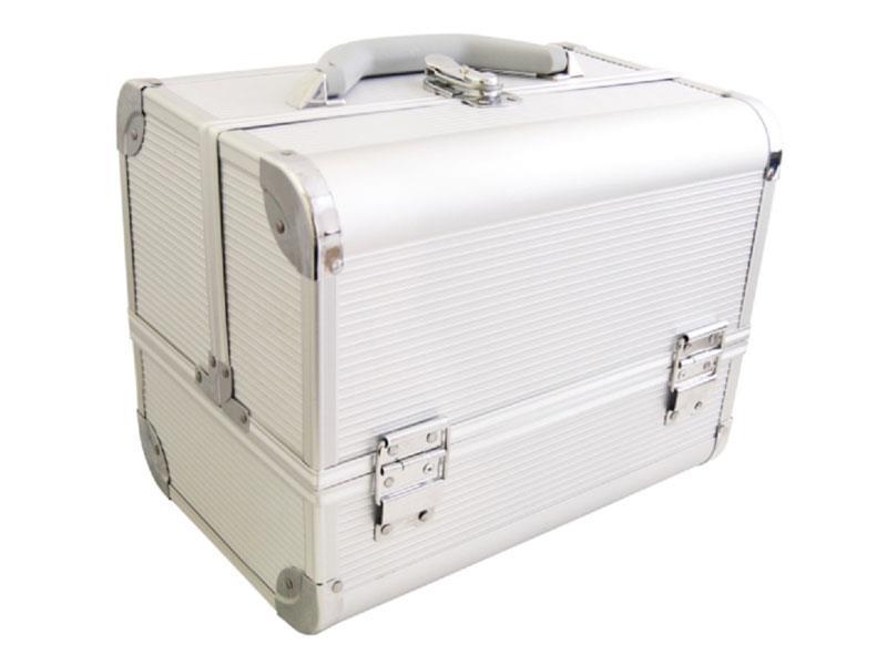 Kufrík kozmetický PROTEC hliník strieborný malý