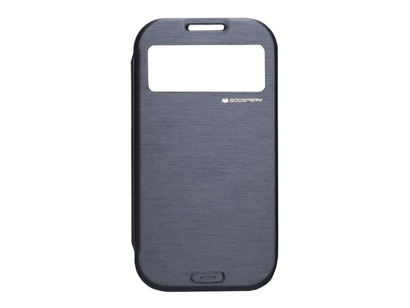 Pouzdro Goospery Easy View na Samsung Galaxy S4, navy