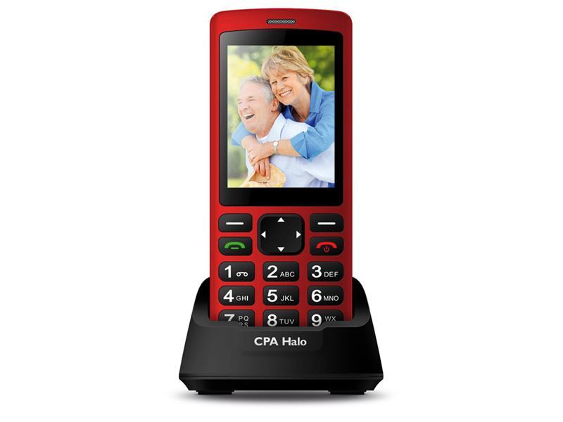 Telefón CPA HALO PLUS červený