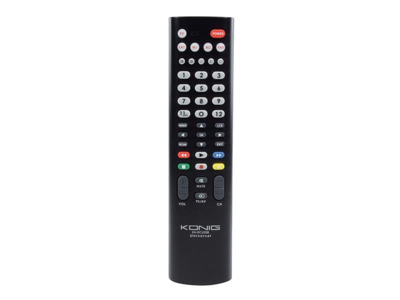 Ovládač TV diaľkový univerzálny KÖNIG KN-RCU20B pre 2 zariadenie