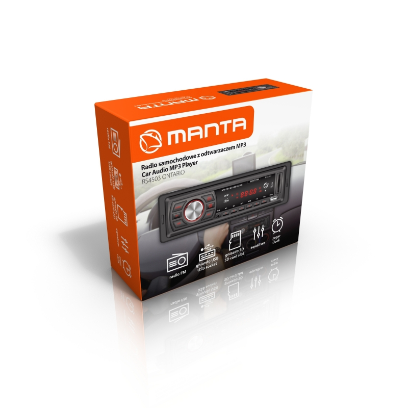 MANTA MP3 Autorádio ONTARIO RS4503